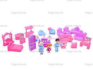 Детский кукольный дом с куклами и мебелью, 589-30, купить