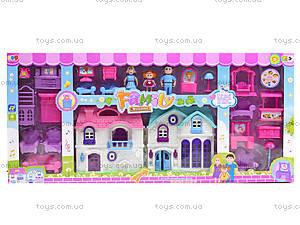 Детский кукольный дом с куклами и мебелью, 589-30, фото