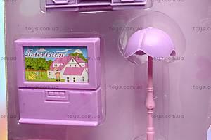 Кукольный дом с мебелью и техникой, 666-665, игрушки