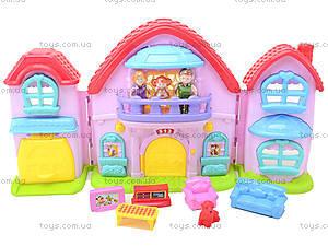Кукольный дом с музыкальным эффектом и куклами, 32668, детские игрушки
