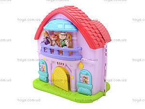 Кукольный дом с музыкальным эффектом и куклами, 32668, toys.com.ua