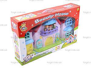 Кукольный дом с музыкальным эффектом и куклами, 32668, toys