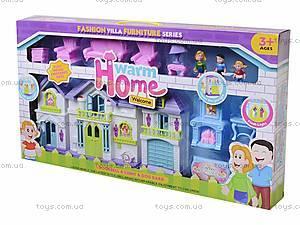 Кукольный дом с куклами и мебелью в коробке, WD-915A, купить