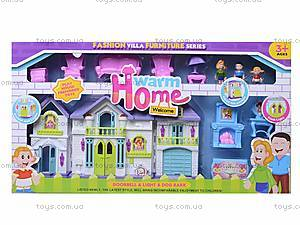 Кукольный дом с куклами и мебелью в коробке, WD-915A, отзывы