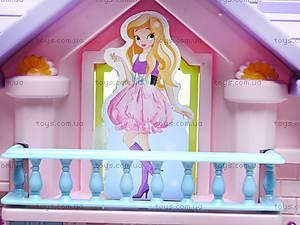 Кукольный домик, с мебелью, WD-910AB, игрушки