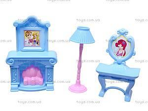 Кукольный домик, с мебелью, WD-910AB, детские игрушки