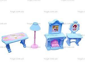 Кукольный домик, с мебелью, WD-910AB, магазин игрушек