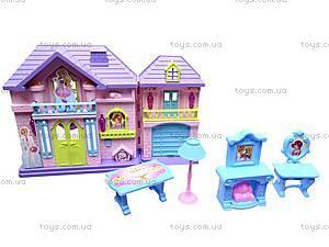 Кукольный домик, с мебелью, WD-910AB, toys