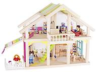 Кукольный домик goki 2 этажа с внутренним двориком, 51588G, купить
