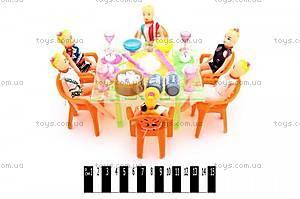 Кукольный столик, с куклами, A8-64