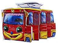 Детская мини-книга «Трамвай», М15478У, фото