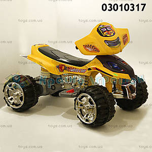 Квадроцикл для детей, желтый, 03010317 ЖEЛ