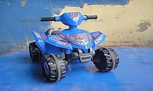Квадроцикл с электродвижком, красный, K-008