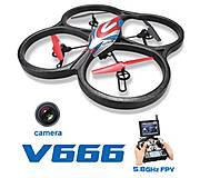 Квадрокоптер большой Cyclone с FPV системой 5.8GHz, WL-V666, купить