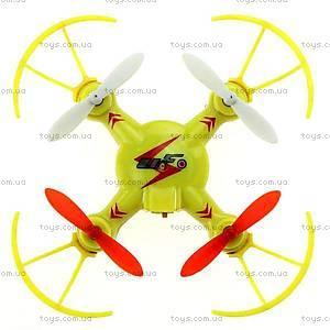 Радиоуправляемый квадрокоптер нано Mini Ufo, желтый, WL-V646-Ay