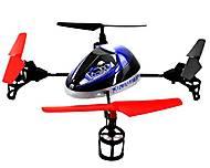 Квадрокоптер радиоуправляемый UFO Force, фиолетовый, WL-V949v, детские игрушки