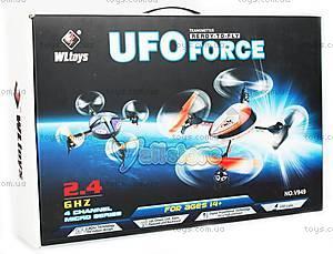 Квадрокоптер радиоуправляемый UFO Force, синий, WL-V949b, фото