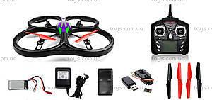 Квадрокоптер с камерой на радиоуправлении WL Toys Cyclone 2, WL-V333c, детские игрушки