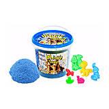 Кинетический песок голубой «Magic Sand» 1000 г, с формочками , 372-2, фото