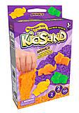 """Кинетический песок """"KidSand: Техника"""" с формочками, мини 200 г, KS-05-06, магазин игрушек"""