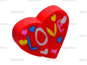 Ластик «Сердце Love», 40 штук, 50810-TK, фото