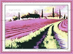 Лавандовое поле, вышивка крестиком, F024