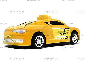 Детская инерционная машинка «Такси», 912A, игрушки