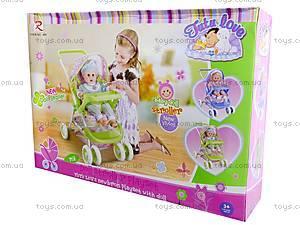 Летняя кукольная коляска с корзиной, 8581