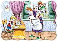 Лицензия Пазл на 30 деталей «Карлсон - Домомучительница », B-PU03025, фото