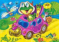 Лицензия Пазл на 60 деталей «Черепаха такси», B-PU06167