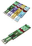 """Линейка деревянная фигурная 11см """"Монстры"""" разные цвета, S-1357, toys.com.ua"""