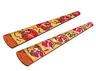 """Линейка деревянная фигурная 12см """"Пицца"""" ассорти, S-1356, тойс"""