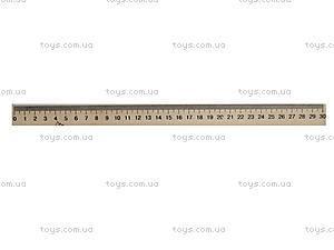 Линейка деревянная, 30 см, 103009, отзывы