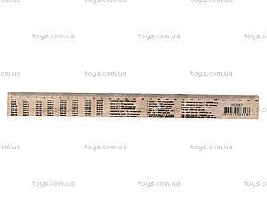 Линейка деревянная с таблицей умножения, 103047