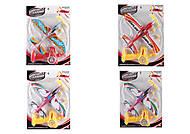 Самолет с запуском на батарейках разноцветный, 0102B-1, интернет магазин22 игрушки Украина