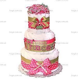 Торт из памперсов для девочки Little princess, PPC24