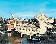 Конструктор деревянный «Лодка Дракона», П085а, игрушки