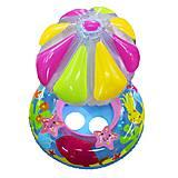 Лодочка надувная с зонтиком (голубая), BT-IG-0039, игрушки