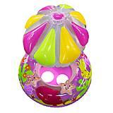 Лодочка надувная с зонтиком (розовая), BT-IG-0039, интернет магазин22 игрушки Украина