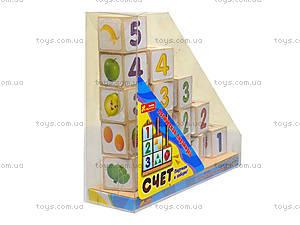 Логическая пирамидка из деревянных кубиков «Счет», 8058-09, купить
