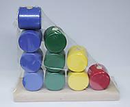 Логическая игрушка «Цилиндры», И033, купити