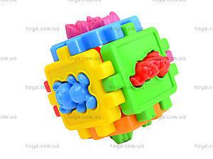 Детский логический куб-сортер «Животные», 50-102, купить