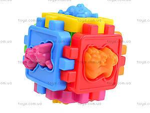 Детский логический куб-сортер «Животные», 50-102, фото