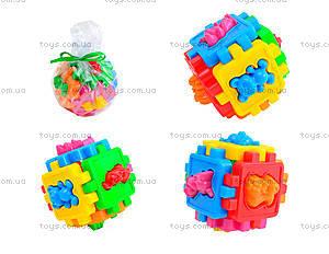 Детский логический куб-сортер «Животные», 50-102