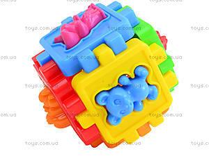 Детский логический куб-сортер «Животные», 50-102, цена
