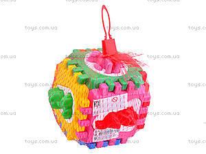 Детский куб-сортер с вкладышами, 50-001