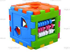 Детский куб-сортер со счетами, 50-201, фото