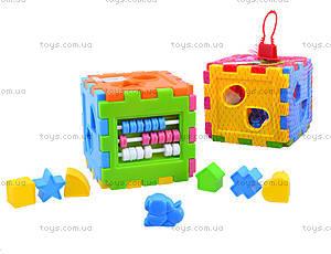 Детский куб-сортер со счетами, 50-201