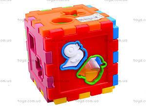 Детский куб-сортер со счетами, 50-201, игрушки