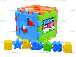 Детский куб-сортер со счетами, 50-201, детские игрушки